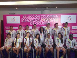 Selección Colombia de Ciclismo para la tercera parada de la Copa Mundo / Foto Organización Copa Mundo de Pista Cali 2015
