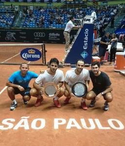 Robert Farah y Juan Sebastián Cabal campeones del ATP 250 de Sao Paulo / Foto cuenta de twitter de Juan Sebastián Cabal.