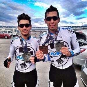Oscar Cobo y Carlos Pérez con sus medallas del Open Internacional de Las Vegas / Foto cuenta de Instagram Carlos Pérez