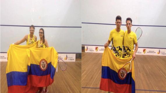 Colombia campeón de dobles en el Suramericano Juvenil de Squash