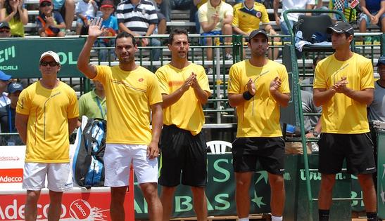 Colombia se prepara para Copa Davis
