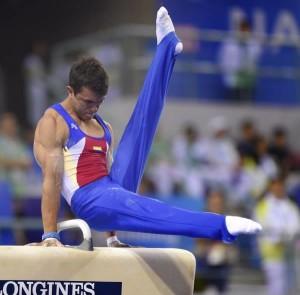 Jossimar Calvo, gimnasta colombiano. Foto Federación Internacional de Gimnasia.