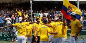 Equipo colombiano de Copa Davis / Foto Comité Olímpico Colombiano