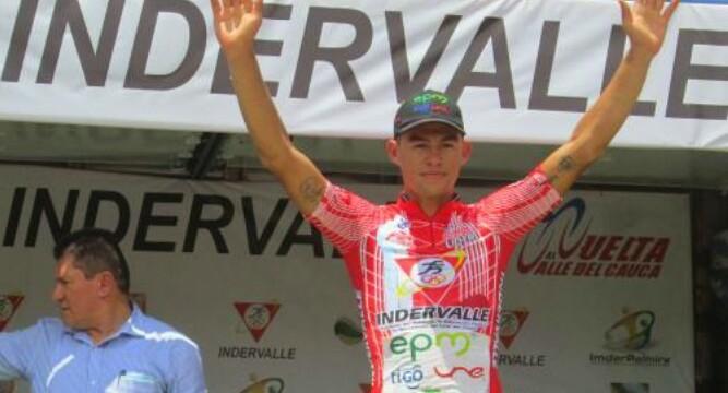 Kevin Ríos ganó la primera etapa de la Vuelta al Valle