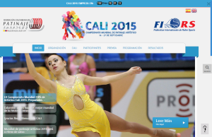 www.artisticocali2015.co página oficial del Campeonato Mundial de Patinaje Artístico Cali 2015