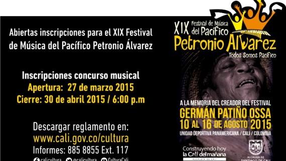 Inscripciones para el Petronio Alvarez hasta el 30 de abril