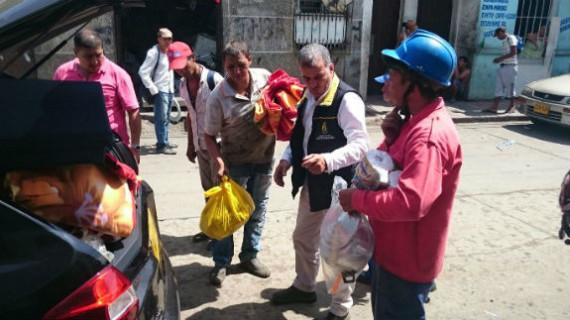 CMGRD entregó ayudas humanitarias a afectados por incendios en el barrio Sucre
