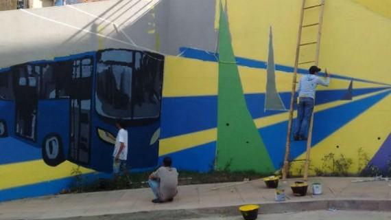Desmovilizados, sector público y privado pintan de paz la Comuna 20
