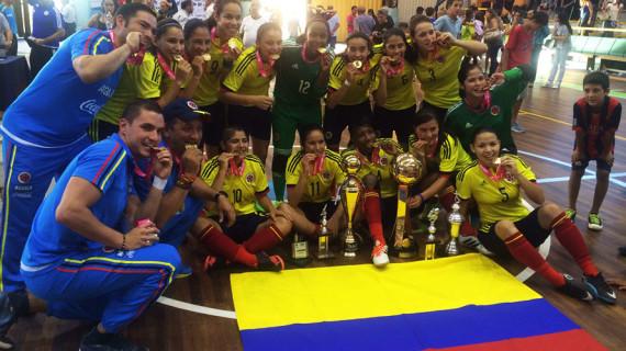 Selección Colombia, campeona de la Copa América Femenina de Futsal