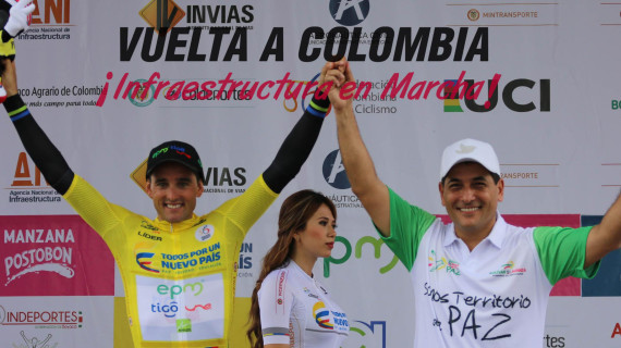 Oscar Sevilla, el primer líder de la Vuelta a Colombia