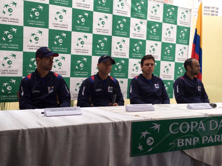 Rueda de prensa del equipo colombiano para Copa Davis / Foto Federación Colombiana de Tenis