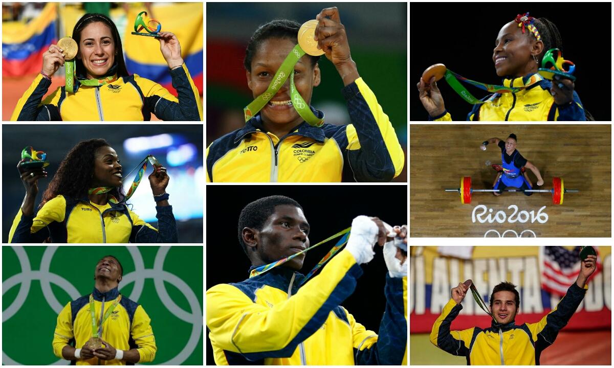 Medallistas colombianos en Río 2016 / Fotos Río 2016.