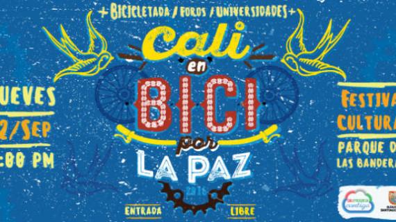 Cali en Bici por la Paz este jueves 22 de septiembre