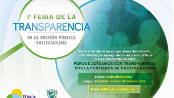 Gobernación del Valle realizará la Feria de la Transparencia este miércoles