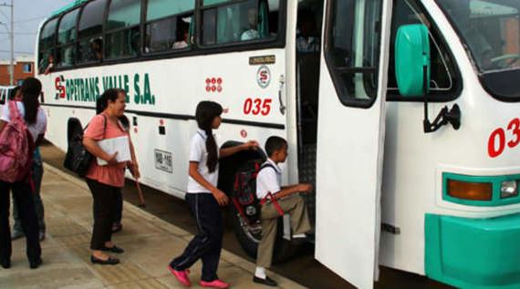 El transporte escolar no tendrá pico y placa