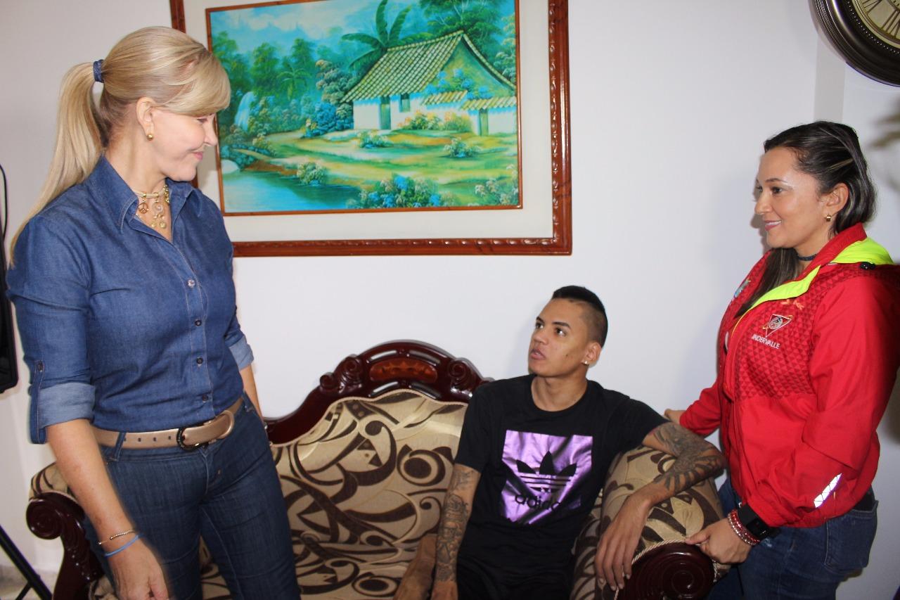 Gobernación continúa acompañando el proceso de recuperación de Jefferson Herrera