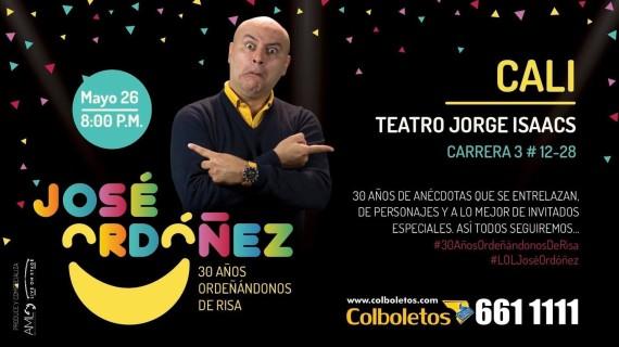 José Ordoñez celebra 30 años de humor en el teatro Jorge Isaacs