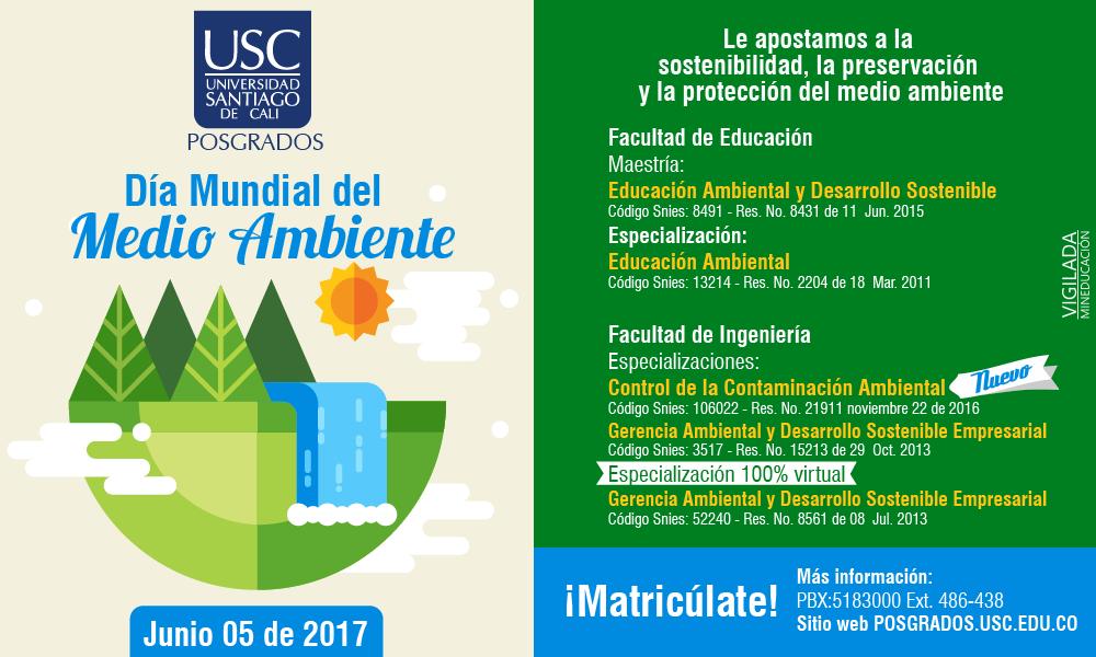 USC poster Día medio ambiente