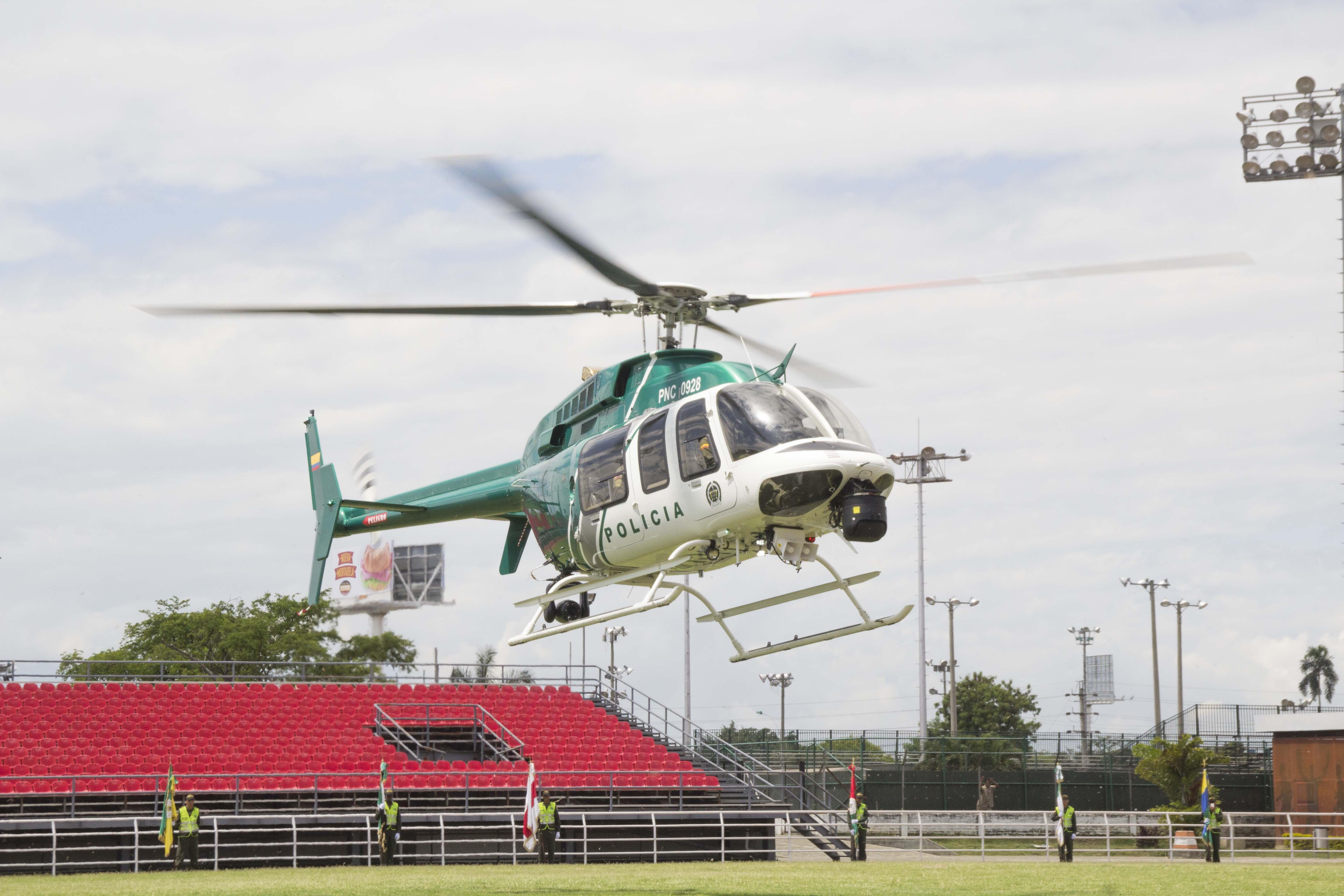 Entrega oficial Helicoptero Policia 340
