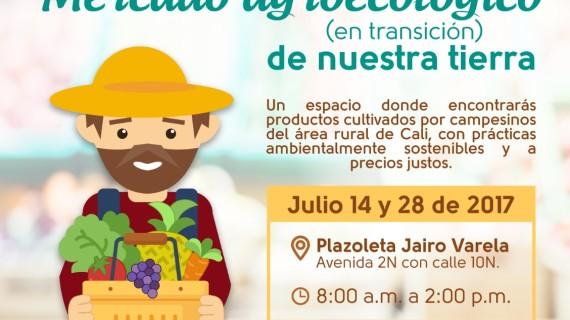 Este viernes estará el mercado agroecológico en la Plazoleta Jairo Varela