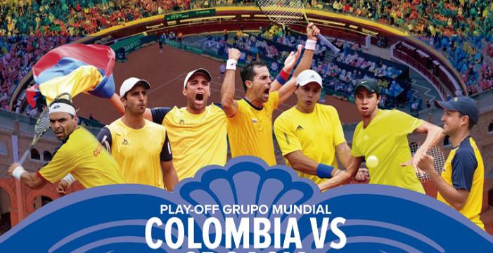 Colombia se jugará su paso al grupo mundial de Copa Davis