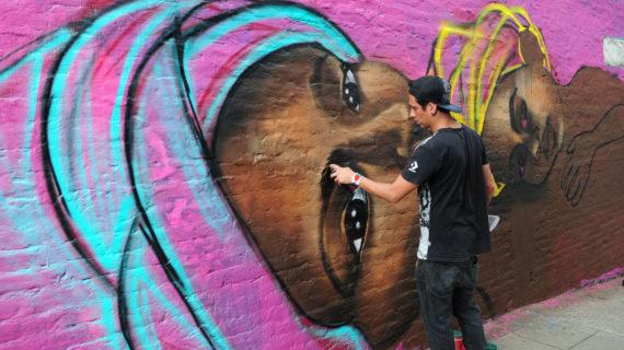 Graficalia, el primer festival que llenó de arte y color la ciudad