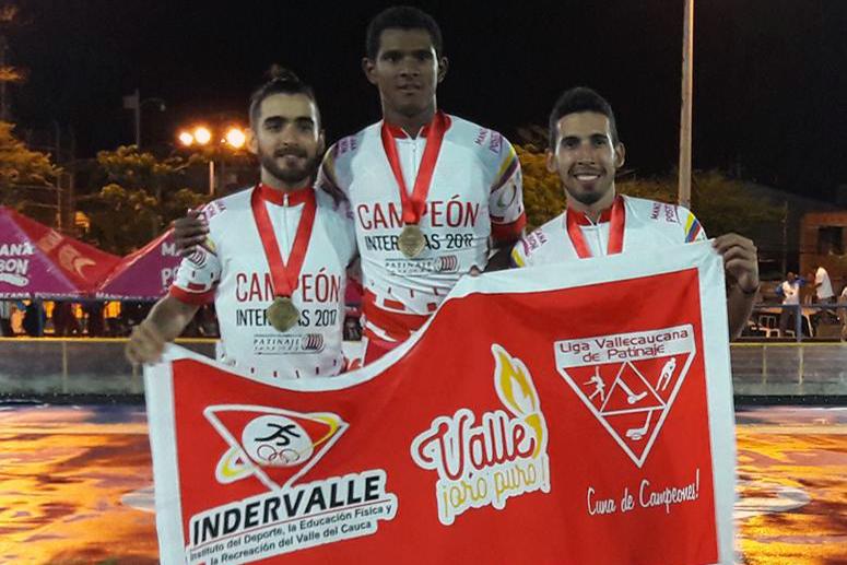 Valle, subcampeón Interligas de Patinaje de Carreras