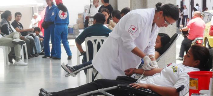 jornada de donación de sangre en Casa Matria