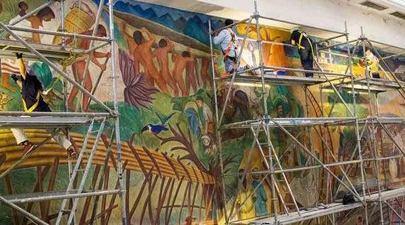 Restauración de murales del maestro Tejada