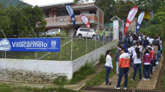 Nuevo colegio puso de fiesta a la comunidad de Villa Carmelo