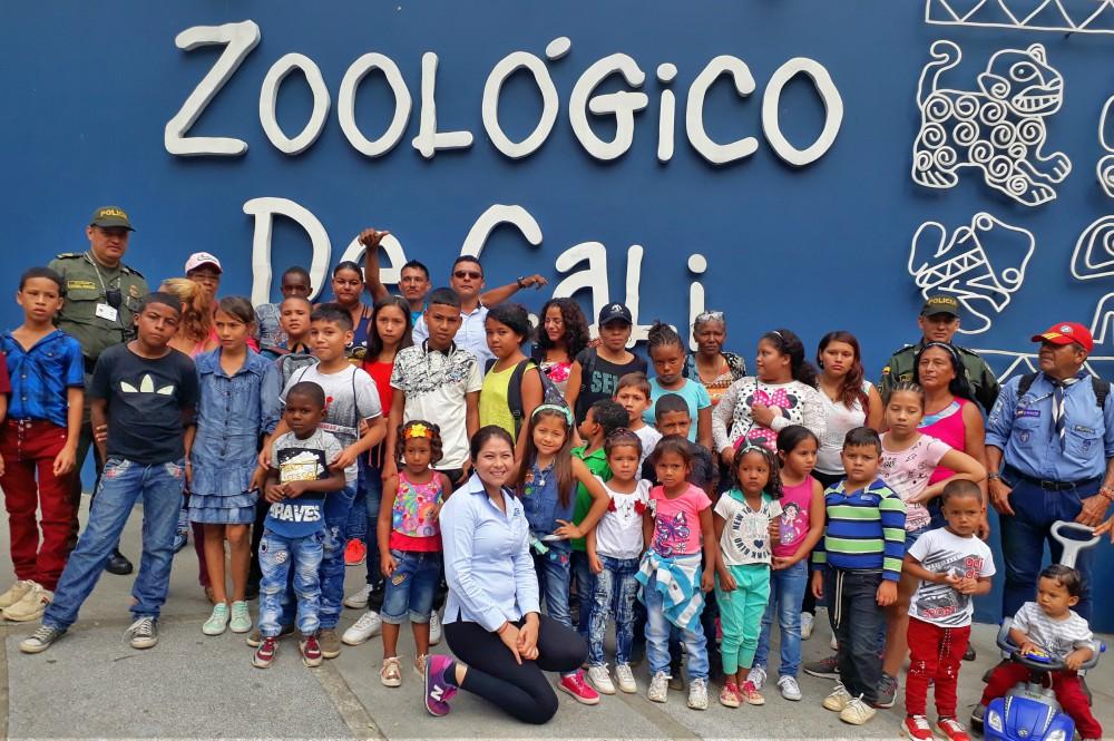Comunidad del corregimiento El Estero visitó el Zoológico de Cali