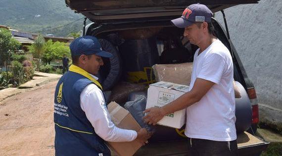 Familias afectadas por lluvias reciben asistencia humanitaria