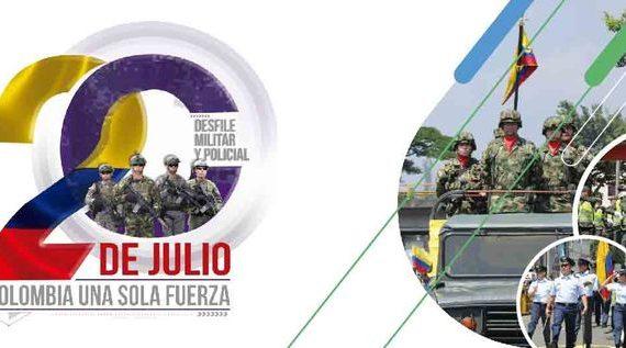Desfile militar este viernes 20 de julio en la Autopista Suroriental