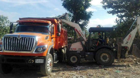 Alcaldía interviene puntos impactados por residuos de construcción y demolición
