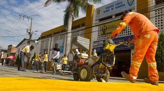 Masiva participación de habitantes de la comuna 7 en la Minga por la Seguridad Vial