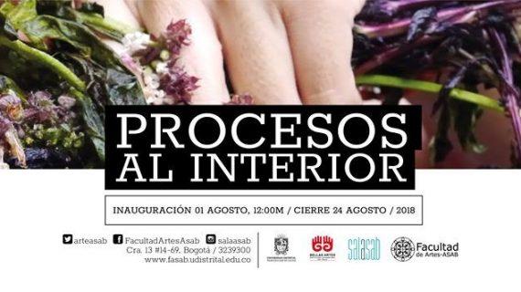 Estudiantes de Bellas Artes muestran sus obras en la exposición 'Procesos Al Interior', en Bogotá
