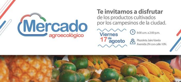 El Mercado Agroecológico estará este viernes 17 de agosto