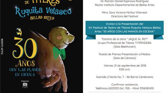 Inicia el Festival Internacional de Títeres ´Ruquita Velasco'