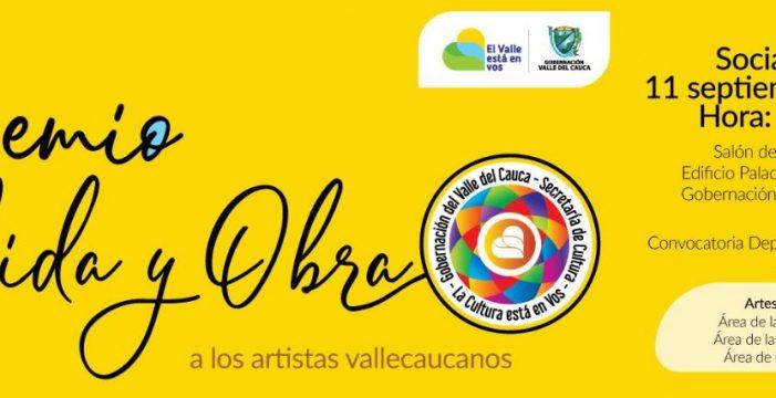 Gobernación del Valle abre la convocatoria para el Premio Vida y obra 2018