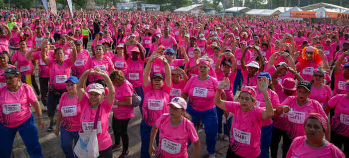 Una mancha rosada corrió la carrera 5K Ladera del Cali SportFest