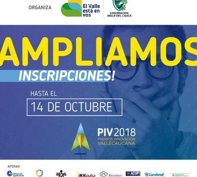 Amplían inscripciones para Premios Innovación Vallecaucana 2018