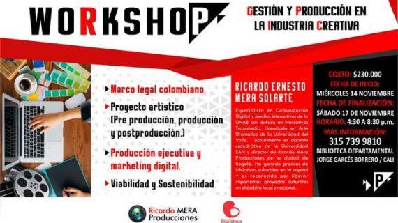 La Biblioteca Departamental abrió inscripciones al 'Workshop en gestión y producción de proyectos artísticos'