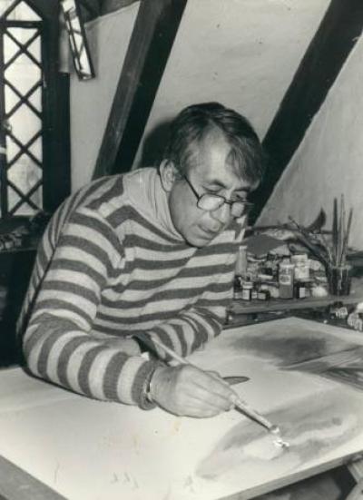 El pintor Augusto Rivera
