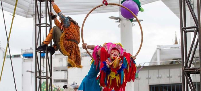 El circo Incubaxion Teatro invitó a conservar el medio ambiente