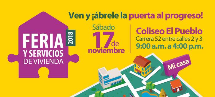 Este sábado es la Feria y Servicios de Vivienda en el Coliseo El Pueblo