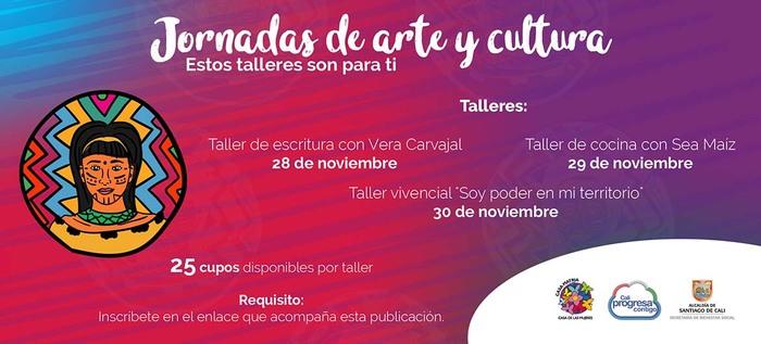 Talleres de arte y cultura para mujeres caleñas al finalizar noviembre