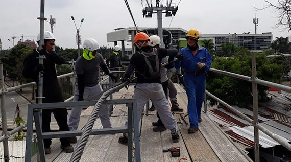 Trabajos de mantenimiento en el MIO Cable se encuentran en un 70%