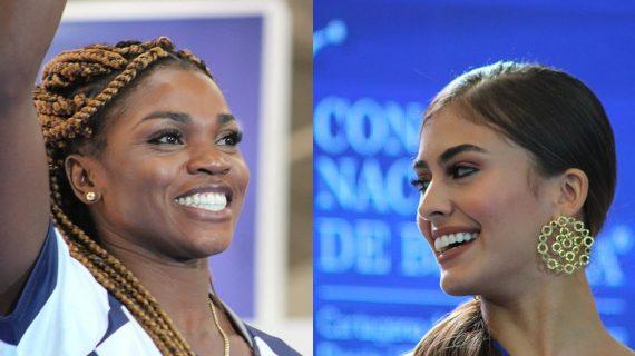 Dos reinas se encontraron en Cali para apoyar a jóvenes deportistas