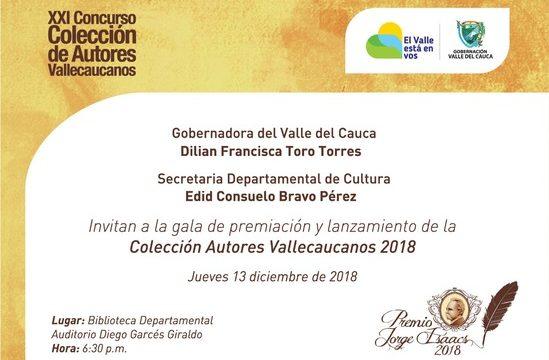 En ceremonia especial Gobernadora entregará Premio de Autores Vallecaucanos 'Jorge Isaacs'