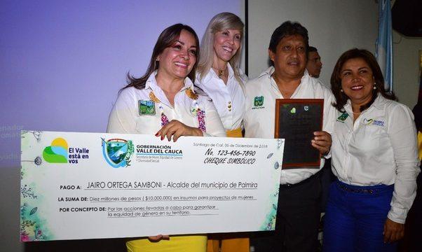 Gobernadora hace reconocimiento a cinco alcaldes por sus acciones para garantizar la equidad de género en sus territorios